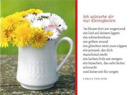 Textkarte Wiesenblumen