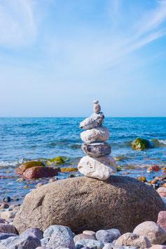 Steinturm am Strand von Hiddensee, Briefkarte