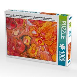 "Puzzle ""Fülle"", Acrylic Pouring"