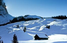 Schneelandschaft, Briefkarte