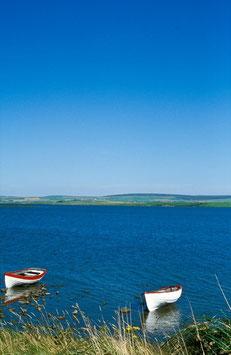Zwei Boote, Orkney-Inseln, Briefkarte
