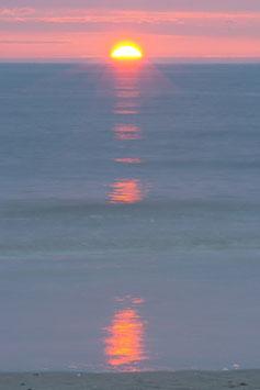 Sonnenuntergang am Meer, Briefkarte