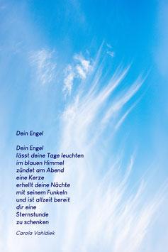 Dein Engel, Textkarte