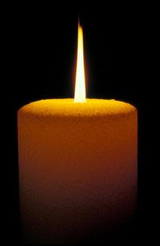 Kerze, Briefkarte