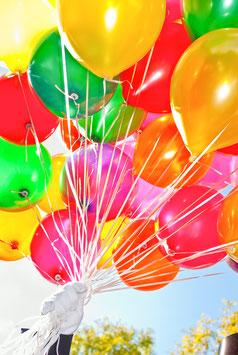Luftballons, Briefkarte