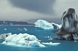 Eisberge auf dem Jökulsárlón, Briefkarte