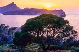 Sonnenuntergang über La Dragonera, Briefkarte