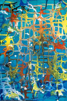 Wege (Blau), Briefkarte