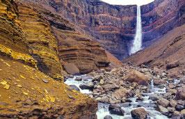 Wasserfall Hengifoss, Briefkarte