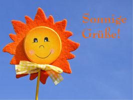 Sonnige Grüße!, Briefkarte