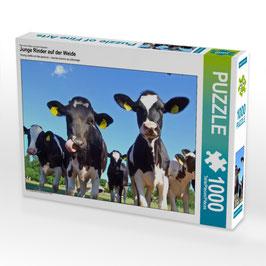 """Puzzle """"Junge Rinder auf der Weide"""""""