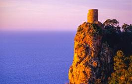 Historischer Wachtturm auf Mallorca, Briefkarte