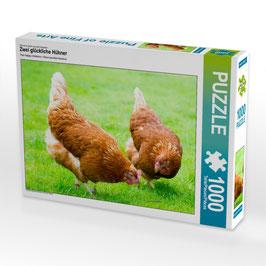 """Puzzle """"Zwei glückliche Hühner"""""""
