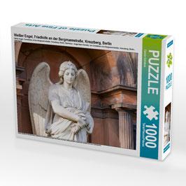 """Puzzle """"Weißer Engel, Friedhöfe an der Bergmannstraße, Kreuzberg, Berlin"""""""