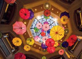 Textkarte Bunte Schirme