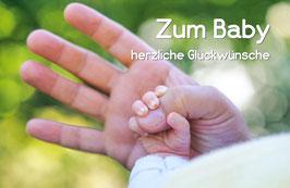 Zum Baby herzliche Glückwünsche, Briefkarte