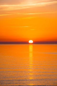Sonnenuntergang über der Ostsee, Briefkarte
