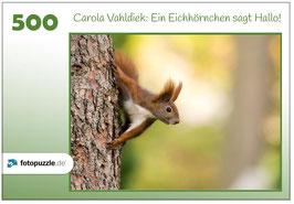 """Puzzle """"Ein Eichhörnchen sagt Hallo"""", 500 Teile"""