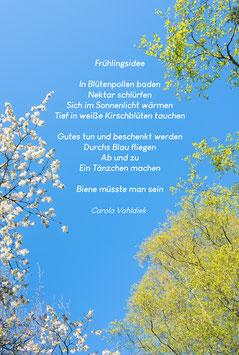 Frühlingsidee, Textkarte