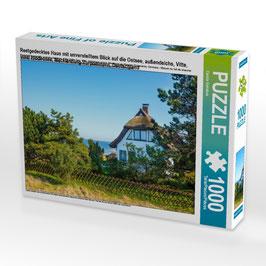 """Puzzle """"Reetgedecktes Haus auf Hiddensee"""""""