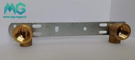 Platine de fixation BAIN / DOUCHE  ENTRAXE 150 MM