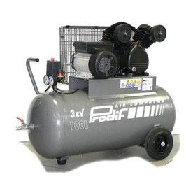 Compresseur d'air PROFESSIONNEL / 3 Chevaux 100 litres / 10 Bars