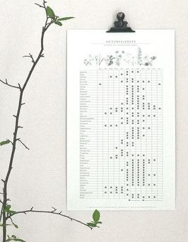 Blumen-Saisonkalender