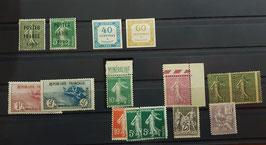 LOT #14 FRANCE sélection de timbres de belles valeurs dont n°155 nombreux signés