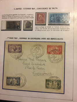 LOT #9 OTAN NATO collection exposition timbres lettres FDC & CM en 12 albums.