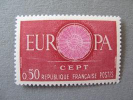 n°1267a. ** centre de la rosace rose pâle