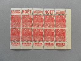 Panneau du carnet n°272-C 12