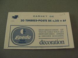 Carnet n°1354-C 1 variété décalage vers le bas