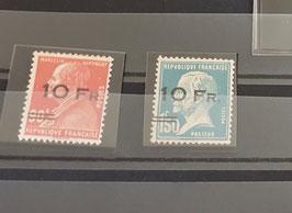 LOT #11 FRANCE timbres PA 3 * + PA 4 (*) bon centrage certificat Calves RR