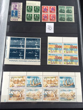 LOT #1 ITALIE collection timbres publicité variétés occupation booklet errors ++