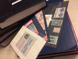 LOT #250 GIGA collection timbres France classiques 262 surcharges EA en 7 albums.