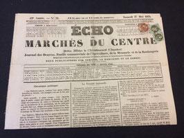 Journal avec oblitération précurseur préoblitéré affranchissement émission de Bordeaux timbres n°39