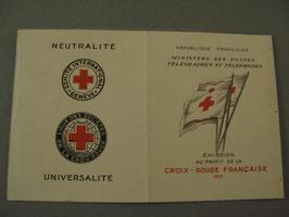 Carnet Croix-Rouge 1955