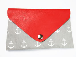 "Clutch ""Grey Red Anchor"""