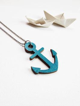 "Ankerkette aus Holz ""Blue Anchor"""