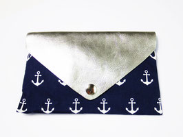 "Clutch ""Blue Silver Anchor"""