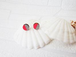 "Kreis Ohrring aus Holz ""Pink Circle"""