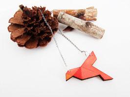 """Origami-Kett aus Holz """"Orange Bird"""""""