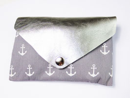 "Clutch ""Grey Silver Anchor"""