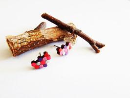 "Waben-Ohrringe aus Holz ""Pink Honeycomb"""