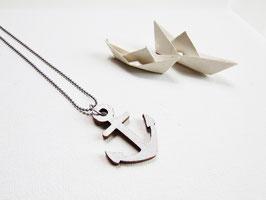 "Ankerkette aus Holz ""Silver Anchor"""