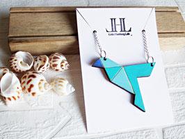 "Origami-Kette aus Holz ""Blue Bird"""