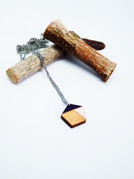 "Polygonkette aus Holz ""Golden Polygon"""