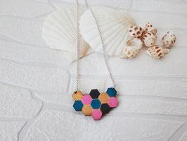 """Wabenkette aus Holz """"Violet Honeycomb"""""""