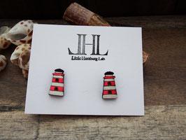 "Leuchtturm-Ohrringe aus Holz ""Little Pink Lighthouse"""