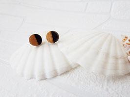 """Kreis-Ohrringe aus Holz """"Black Circle"""""""
